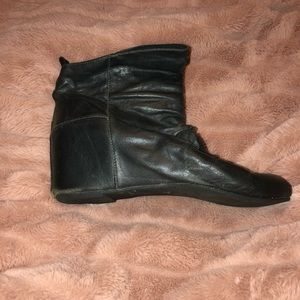 Aldo Slate Leather Wedge Boots